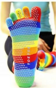 Joga, pilates - prstové ponožky